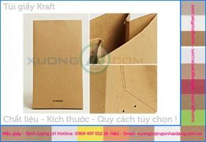 túi giấy kraft an toàn với môi trường