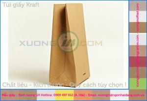 In túi giấy kraft đựng bánh mỳ